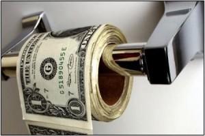 ואי אפשר לעשות רשומה על כסף בלי תמונה שמציגה כסף פיאט בתור נייר טואלט